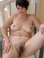 Hairy amateur granny solo