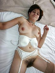 Ground-breaking hairy non-professional pussy pics
